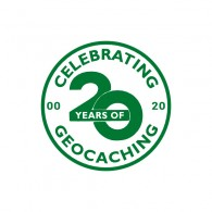 Badge Celebrating 20 Years of Geocaching