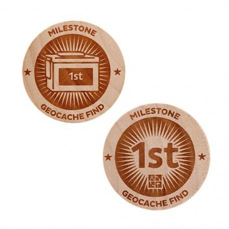 Milestone Wooden Nickel SWAG Coin - 1st Find!