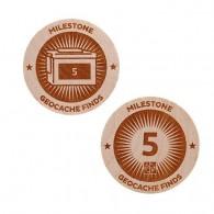 Milestone Wooden Nickel SWAG Coin - 5 Finds