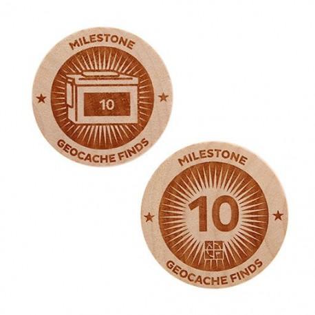 Milestone Wooden Nickel SWAG Coin - 10 Finds