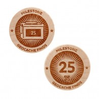 Milestone Wooden Nickel SWAG Coin - 25 Finds