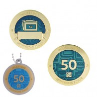 Milestone Geocoin and Tag Set - 50 Finds (2 Trackables)