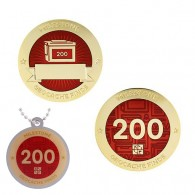 Milestone Geocoin and Tag Set - 200 Finds (2 Trackables)
