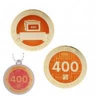 Milestone Geocoin and Tag Set - 400 Finds (2 Trackables)