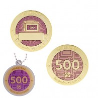 Milestone Geocoin and Tag Set - 500 Finds (2 Trackables)