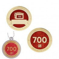 Milestone Geocoin and Tag Set - 700 Finds (2 Trackables)