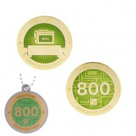 Milestone Geocoin and Tag Set - 800 Finds (2 Trackables)