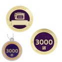 Milestone Geocoin and Tag Set - 3000 Finds (2 Trackables)