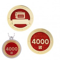 Milestone Geocoin and Tag Set - 4000 Finds (2 Trackables)