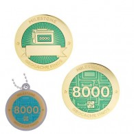Milestone Geocoin and Tag Set - 8000 Finds (2 Trackables)