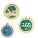 Challenges Geocoin and Tag Set - 365 Days of Geocaching (2 Trackables)