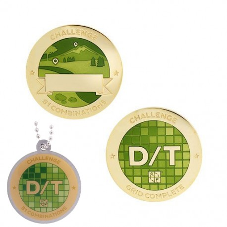 Challenges Geocoin and Tag Set - D/T Grid (2 Trackables)