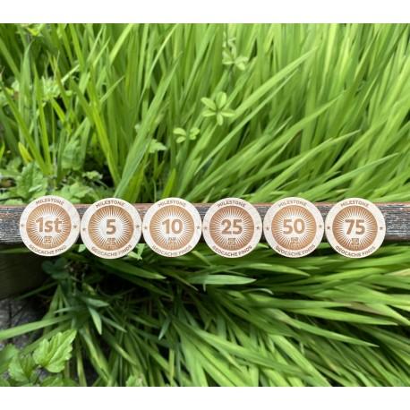 Milestone Wooden Nickel SWAG Coins Set - Lot de 6