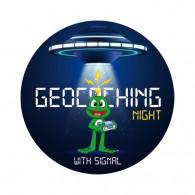 Sticker Geocaching Night with Signal