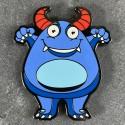 Boo the Monster Geocoin - DARK NIGHT Limited Edition