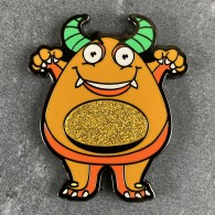 Boo the Monster Geocoin - PUMPKIN Limited Edition