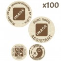 Wooden Tokens avec assistant - Lot de 100