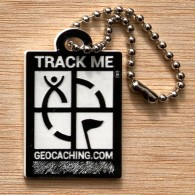 Travel Logo Geocaching - Noir