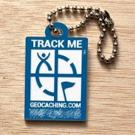 Travel Logo Geocaching - Bleu