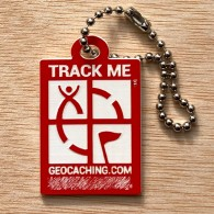 Travel Logo Geocaching - Rouge