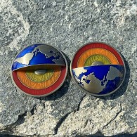Four Elements Geocoin - Antique Gold