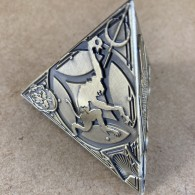 [OOPS] 3D Trifecta Geocoin - Antique Bronze [A]