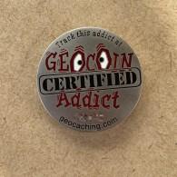[OOPS] Geocoin Addict - Satin Nickel [A]