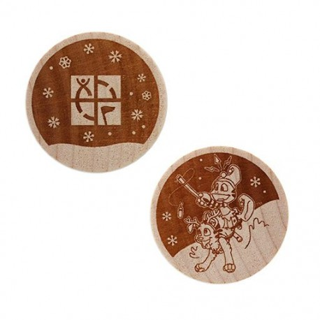Wooden Nickel SWAG Coin - Caching Through the Snow