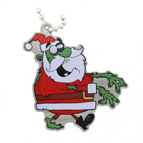 Zombie Santa Travel Tag
