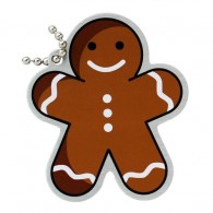 Festive Collection - Gingerbread Man Travel Tag