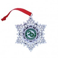 Snowflake Ornament Geocoin - Celebrating 20 Years of Geocaching