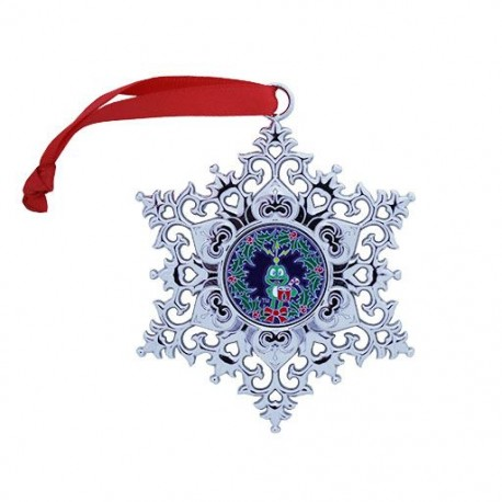 Snowflake Ornament Geocoin - Wreath