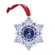 Snowflake Ornament Geocoin - Earth