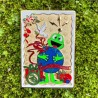 Geocaching Holiday Postcard Geocoin