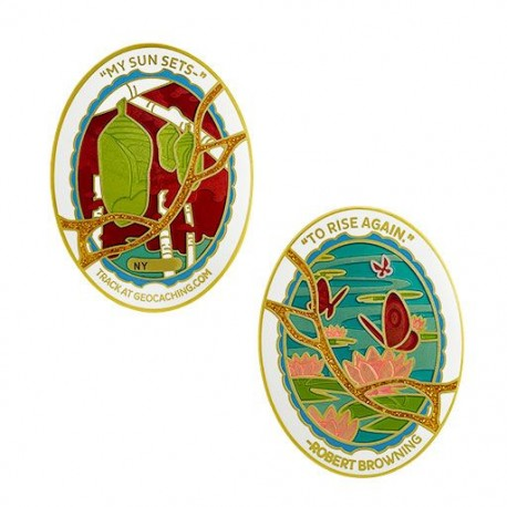 2020/2021 Last/First Geocoin Set - (3 Trackables)