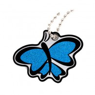 Travel Tag Papillon - Bleu Scintillant