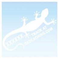 Gecko pour véhicule - Blanc Decal