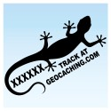 Gecko pour véhicule - Noir Decal