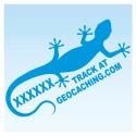 Gecko pour véhicule - Bleu Decal