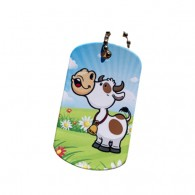 Farm Friends Travel Tag - Vache