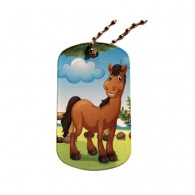 Farm Friends Travel Tag - Cheval