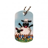 Farm Friends Travel Tag - Mouton