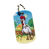 Farm Friends Travel Tag - Coq