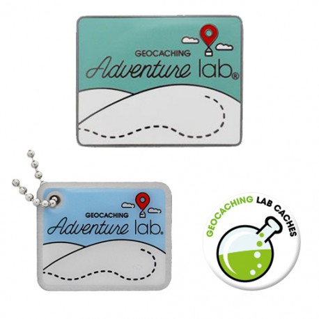 Pack Adventure Lab® - Geocoin + Travel Tag + Badge (2 Trackables)