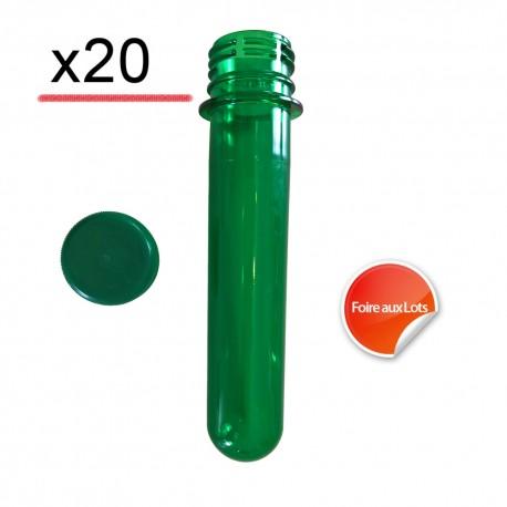 Pet Tube FTF Vert 14cm - Lot de 20