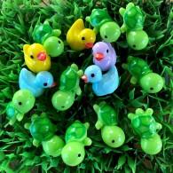 Lot de 15 mini figurines Tortues + Canards