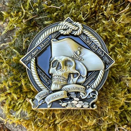 Pirate Geocoin - Courage Antique Bronze Finish (Édition Limitée)