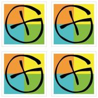 Grands Stickers Logo Geocaching - Lot de 4