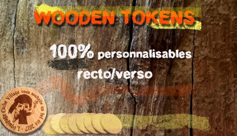 Créez des jetons en bois à votre image !