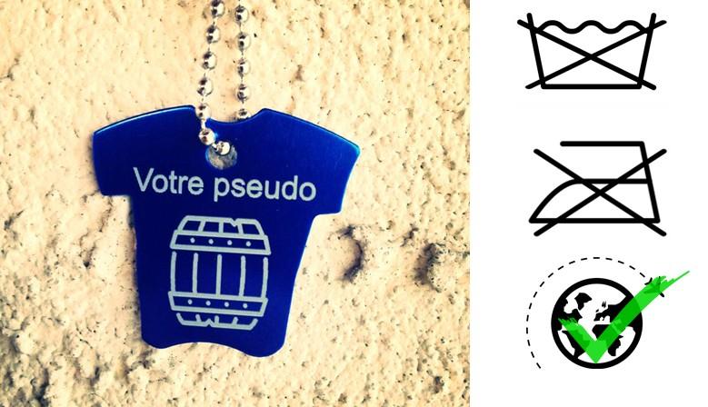 Un tag t-shirt avec votre pseudo : pas besoin de le laver, pas besoin de le repasser !